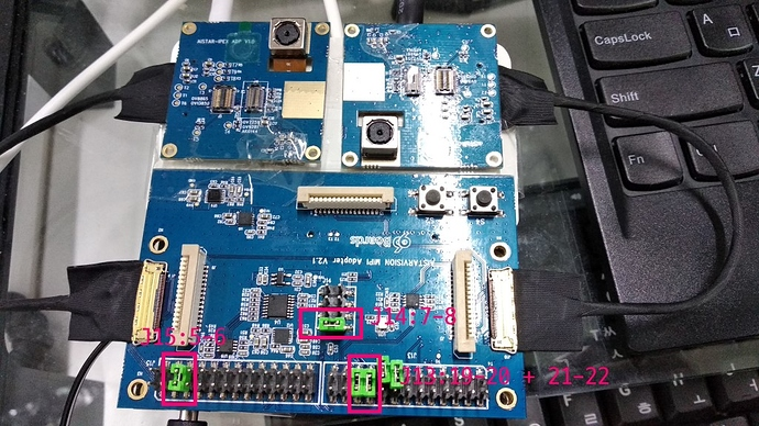 AISTARTVISION MIPI Adapter v2 1 configuration? - Rock960 - 96Boards